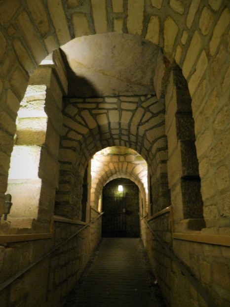 A vaulted underground hall